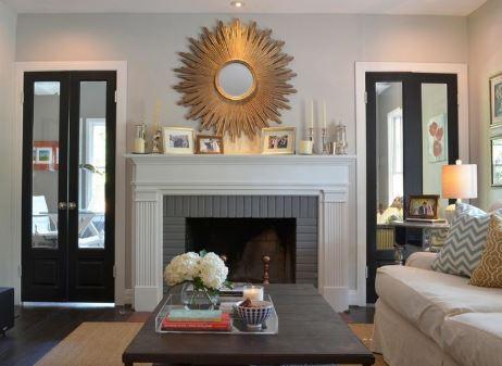 Contoh Cermin Hias Ruang Tamu Berbahan Kuningan