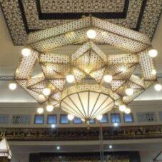 Sedia Lampu Masjid Ukir