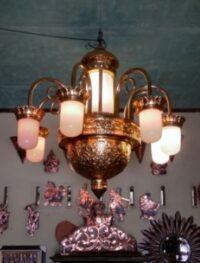 Sedia Lampu Gantung Kuningan Antik Berbagai Desain