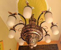 Lampu Gantung Masjid Minimalis Tembaga