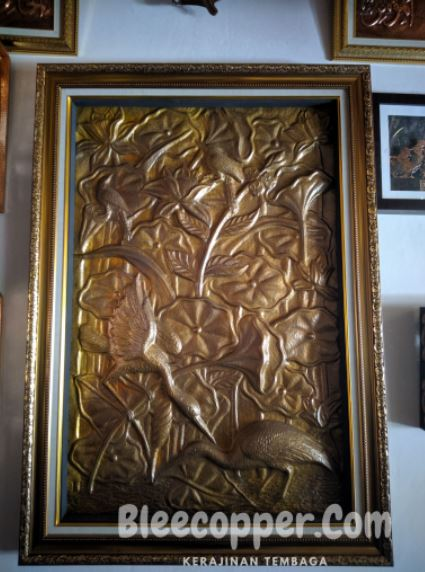 Lukisan Timbul 3D Bahan Logam