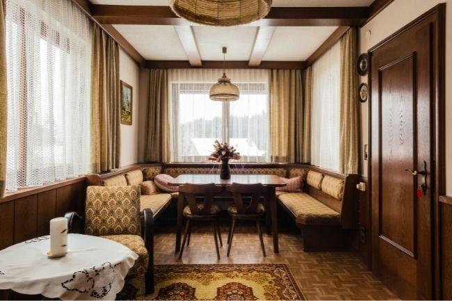 Interior Ruang Tamu Gaya Vintage