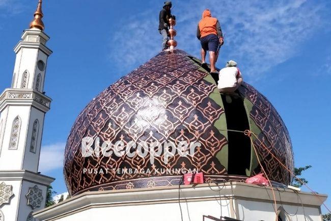 Pengrajin Kubah Masjid Tembaga Berkualitas