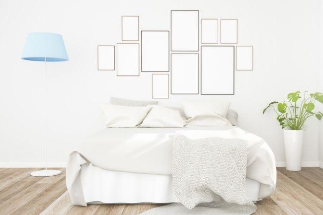 Kolase Foto Dalam Dekorasi Kamar Tidur Minimalis Aesthetic
