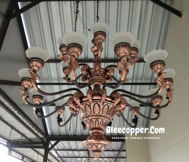 Lampu Masjid Tembaga Tangkai 21