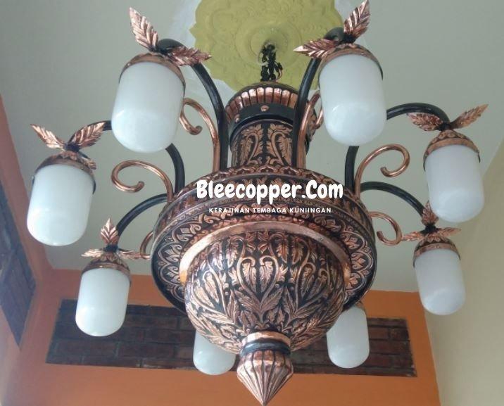 Lampu Masjid Tembaga Tangkai 8
