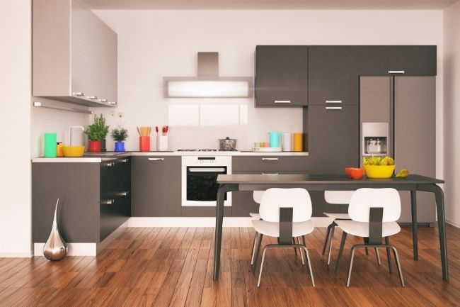 Tambahan Nada Berani Dalam Dekorasi Dapur Minimalis Sederhana