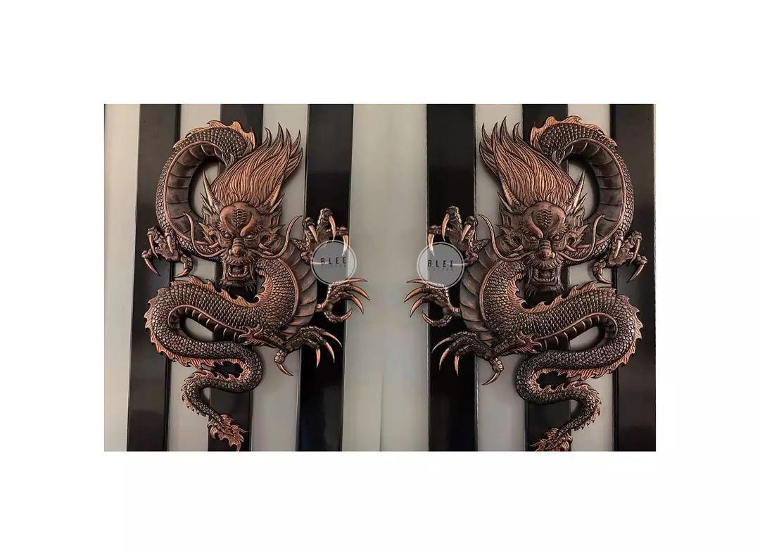 Hiasan Dinding Tembaga Motif Naga