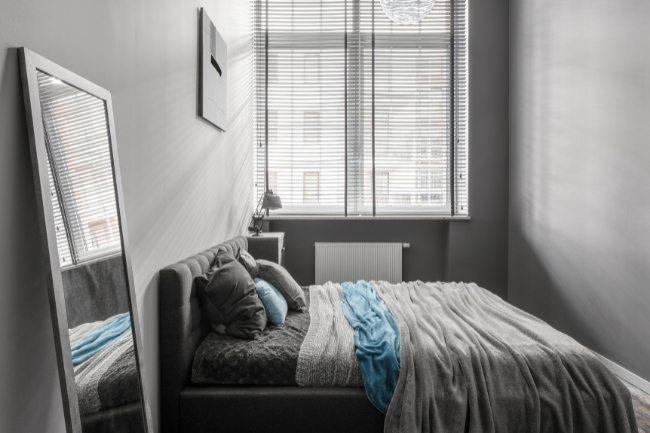 Nada Abu Abu Untuk Desain Kamar Tidur Minimalis