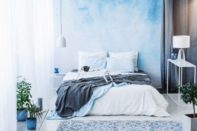 Warna Cat Kamar Tidur Minimalis Dengan Biru